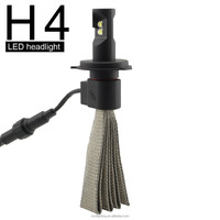 Car parts auto bulb holder H4 lamps led for automobile parts no fan design led headlight h4