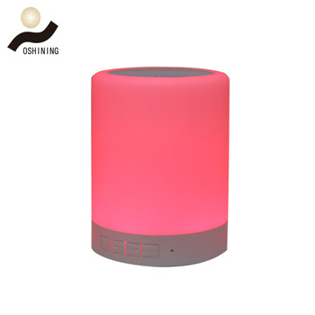 Smart Home Automation Portable BT Wireless Speakers with Mini Speaker LED Desk Lamp