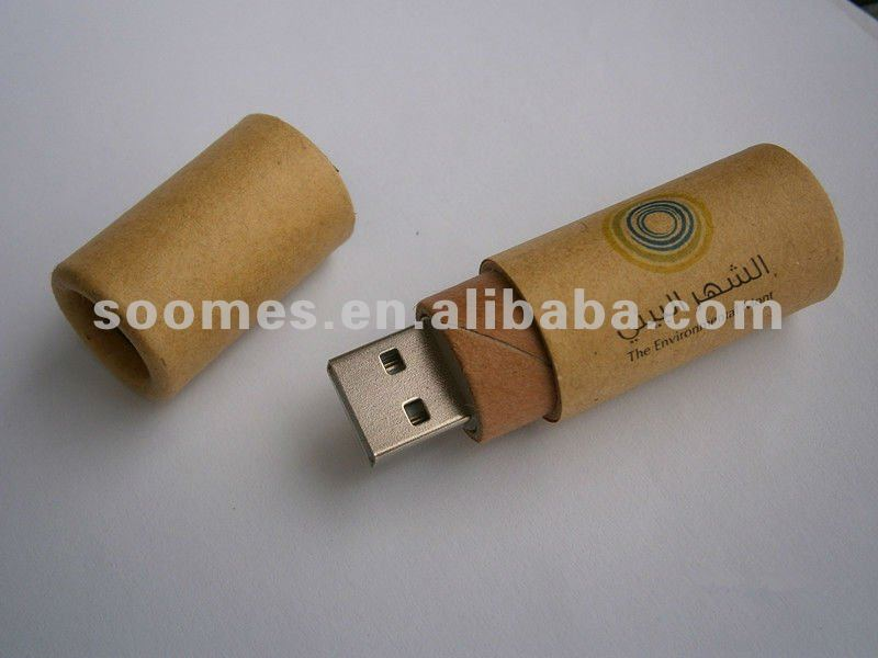 Recycled Paper USB Flash Drive / Green USB