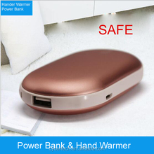 2016 newest hand warmer power bank with 5000mah capacity