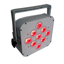 battery powered par light wireless dmx led uplights 9X10w RGBW lights