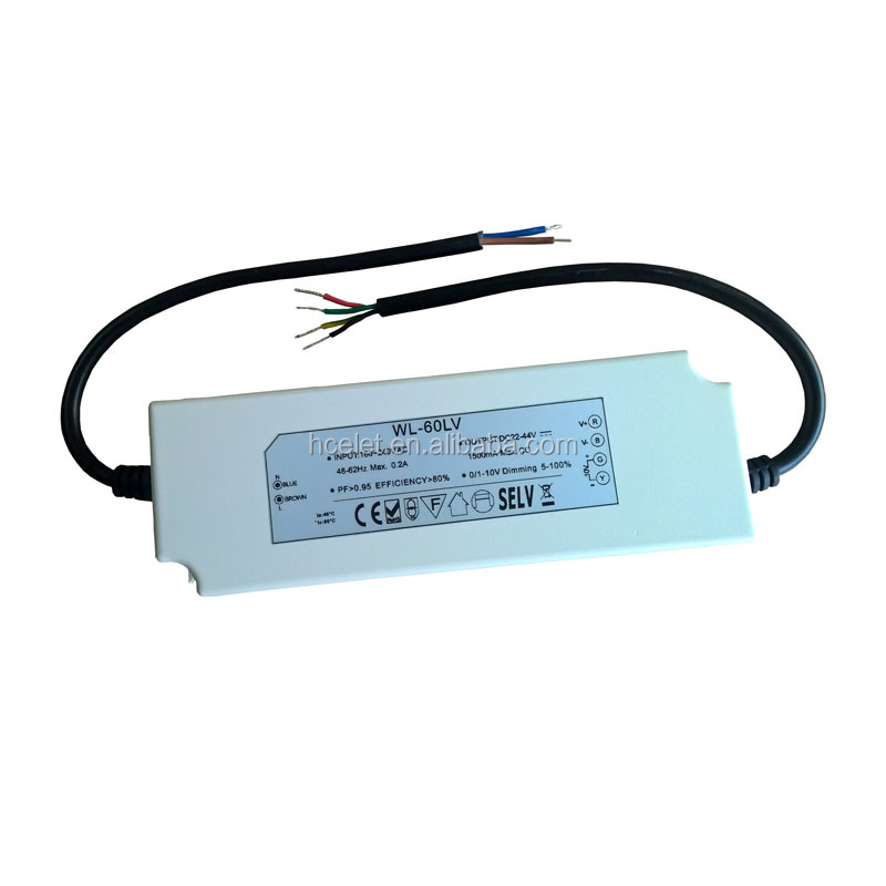 50w 60w 12vdc constant voltage output led triac dimmable driver