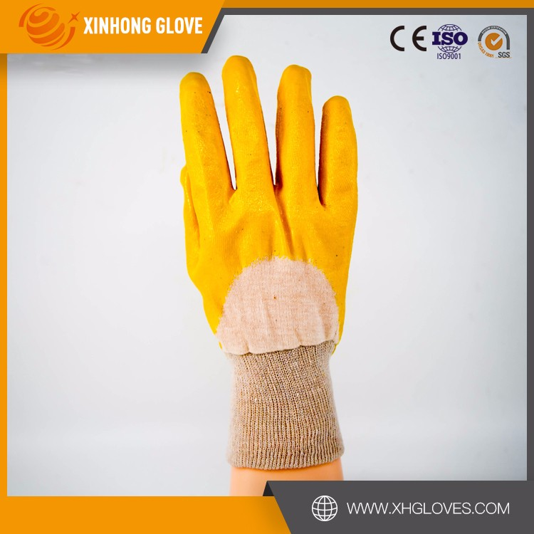 Oil Resistant PVC Dipped Industrial Safety Work Gloves