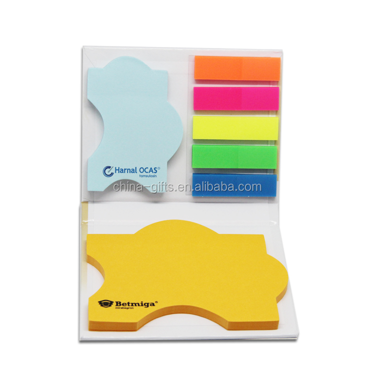 covered die cut sticky note pad