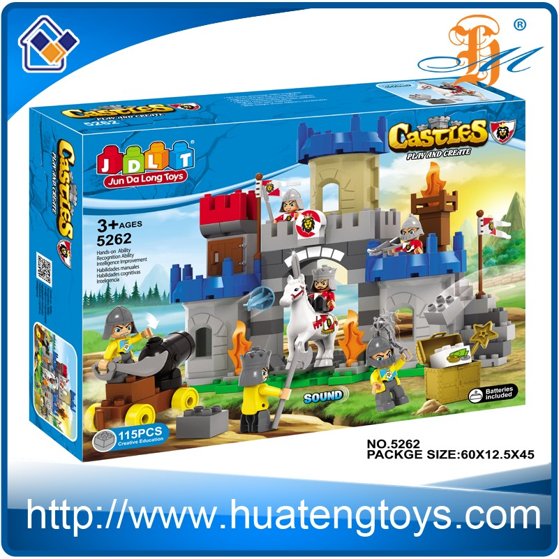 New style DIY ABS plastic castle building model block toy
