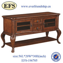 new style solid wood furniture antique wood carved cabinet unique wooden console table