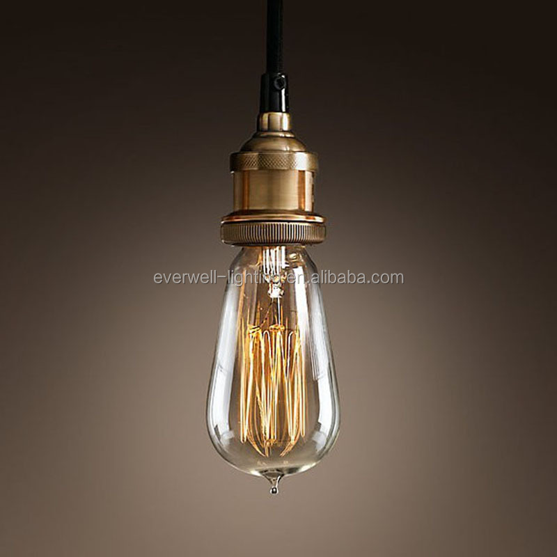 Indoor copper lampholder edison bulb antique pendant lamp