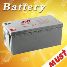 Long life and good quality gel battery bank 12 volt 200ah for UPS system