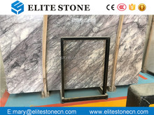 factory price heaven bird white marble with black veins