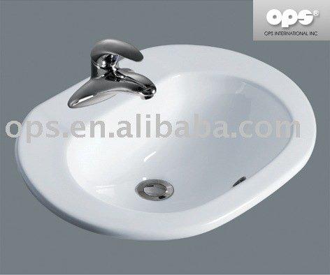 Oval Drop-in Wash Basin / Sink (l-12004) - Buy Sink,Bathroom Sink ...