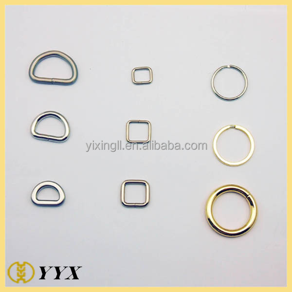 eco-friendly custom sizes round metal d ring snap hook