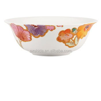 "porcelain round 6""salad bowl with full decal"
