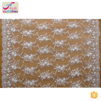 ZP0012-M 3D machine beads african lace fabric styles factory supply