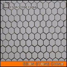 eson stone 61 thassos marble mosaic tiles with factory price,marble flooring