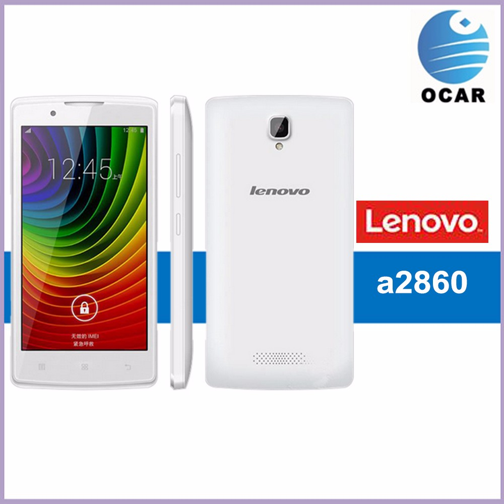 Cheapest Lenovo A2860 android 4.4 inch mobile phone 4G MT6735M quad core Android 4.1 Cell Phone