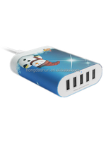 New Colorful Multiple USB Wall Battery Charger, Perfect Power Dock for Google Tablets, iPhone, iPad, HTC, Nexus,Samsung