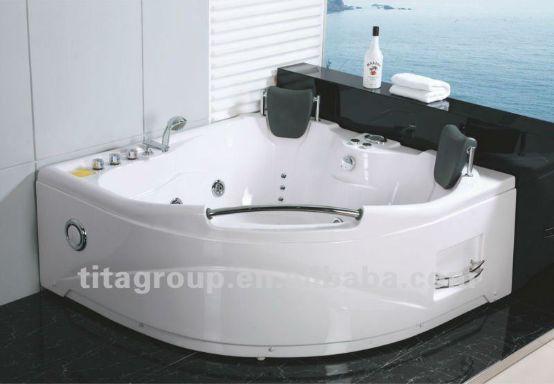 whirlpool massage bathtub with two seats