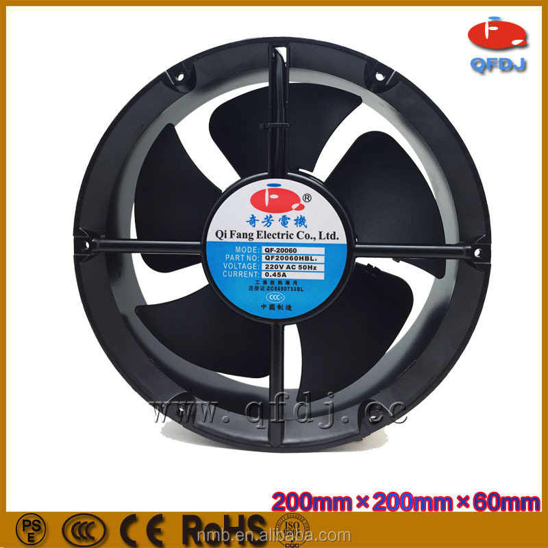 high static pressure ball bearing ac cooling fan 20060 industrial axial flow cooling fan for truck mixer