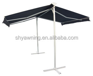 Free Standing Aluminum Rain Cover Double Retractable Awning