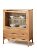 Oak furniture solid wood natural color small sideboard 08