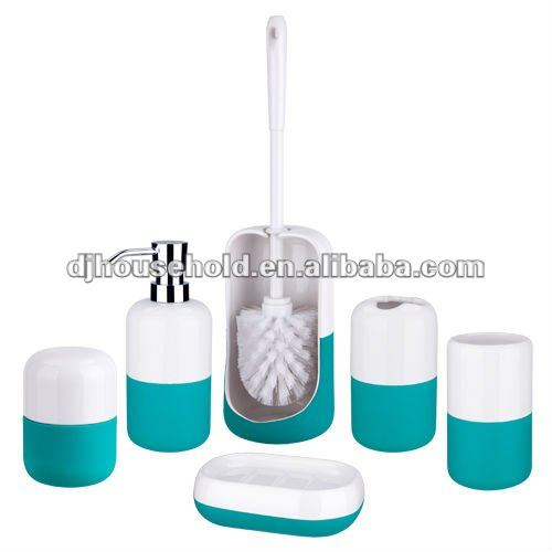 Bathroom 7 pcs Dolomite Bath Accessories Set Soap Dispenser Dish Toothbrush Holder BC9069