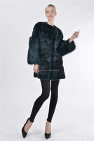 vintage jacket women winter & mink fur coat large