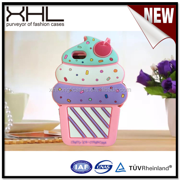 For Samsung S6 creative ice cream cup rubber cell phone case
