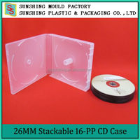 Plastic PP Multi DVD/CD Case