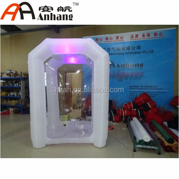 LED lighting inflatable cube money booth for advertisement