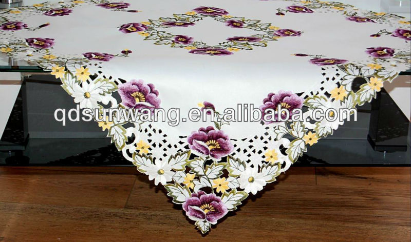 embroidered cutwork tablecloth