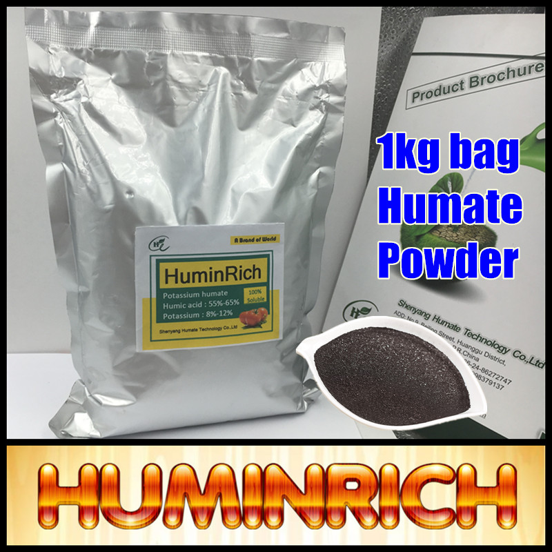 Huminrich High Nutrient Content Stimulate Plant Fast-Growing Potassium Humic Acid Around 60% In Powder Form