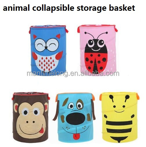 foldable animal laundry basket dirty clothes basket kids toys storage bin home collapsible storage basket