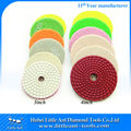 Premium 3''(80mm)/4''(100mm) Sprial Texture buffing Pads for porcelian tile,stone,masnory and more