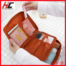 New Style 2015 Fashion travel lady cosmetic bag in bag