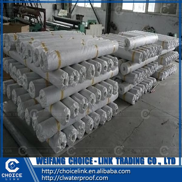 high quality building material polyester reinforcement PVC waterproof membrane