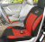 DC 12 v 35 w 45 w Winter Universele Rode Pique Stof Auto Verwarming Seat Cover