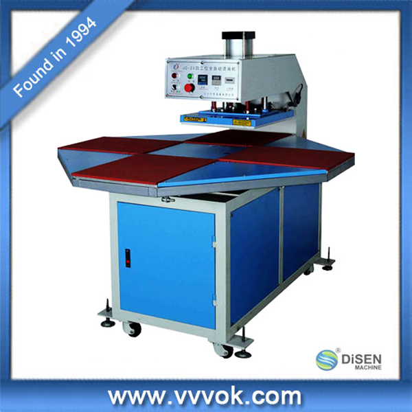 Air Automatic Four Working Tables Vinyl Press Machine
