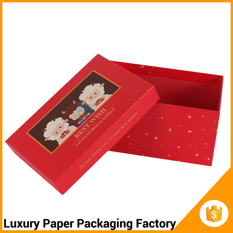 rectangle gift red cardboard new style gift packaging box