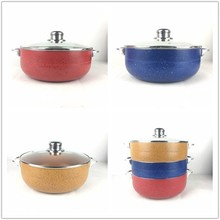 hot sale aluminum non-stick marble coating caldero pot cookware
