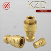 KZD chemical transfer line female thread brass quick coupling pipe connection