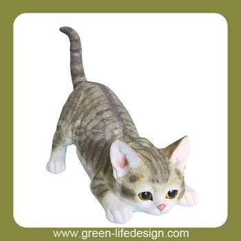 Lovely cat miniature figurine