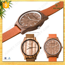 Soft leather strap for wooden watch luxury classical original handmade wrist watch for best gift