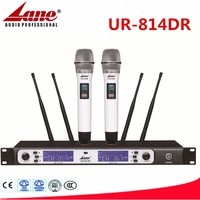 Lane hotest UHF Diversity wireless microphone Professional for stage performance UR-814DR