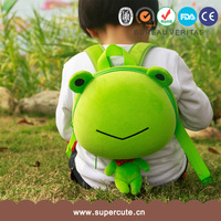 Supercute brand frog shape baby love girls backpack bag