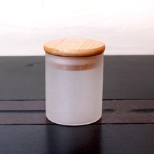 Straight empty round <strong>glass</strong> honey jam <strong>jar</strong> food <strong>jar</strong> with bamboo lid 100ml