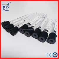 CE and ISO approved black cap ESR vacuum blood test tube with Sodium Citrate