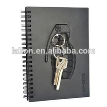 New A5 A6 double ring spiral notebook bullet journal with key chain