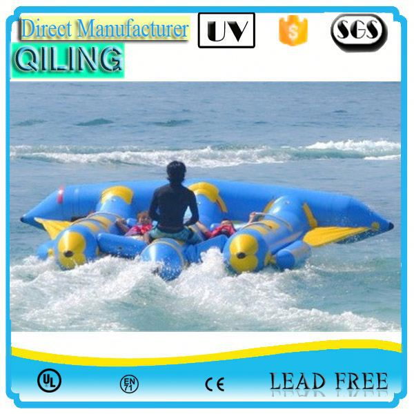 Guangzhou Latest technology sport toy inflatable aqua flyfish raft sport