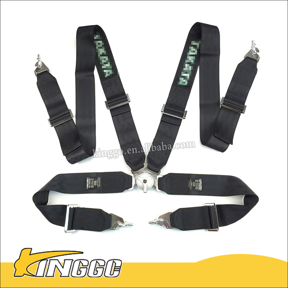 High Quality Quick Release 4 Points Black Racing Harness Seat Belt Fia