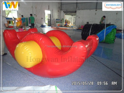 Funny PVC Inflatable seesaw water toys banana boat for adults